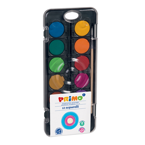 Acuarele cu pensula inclusa MOROCOLOR Primo, Diametru 30 mm, 12 culori