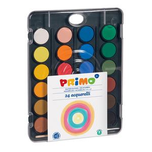 Acuarele cu pensula inclusa MOROCOLOR, Diametru 30 mm, 24 culori