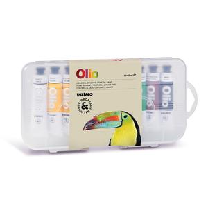 Tempera e baza de ulei MOROCOLOR Primo, 18 ml, 10 culori