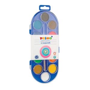 Acuarele cu pensula inclusa MOROCOLOR, Diametru 30 mm, 12 culori