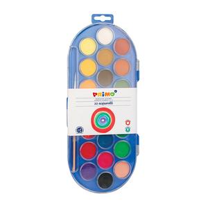 Acuarele cu pensula inclusa MOROCOLOR, Diametru 30 mm, 22 culori