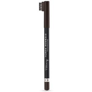Creion pentru sprancene RIMMEL London Professional,  004 Black Brown, 1.4g