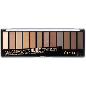 Paleta farduri RIMMEL London Magnif'Eyes 12-PAN, 001 Nude Edition, 14.2g