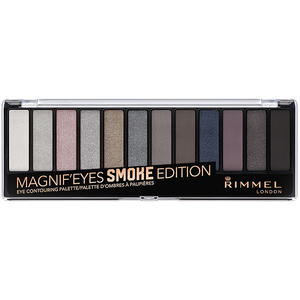 Paleta farduri RIMMEL London Magnif'Eyes 12-PAN, 003 Smoke Edition, 14.2g