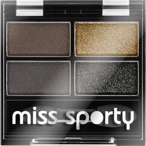 Fard de pleoape MISS SPORTY Studio Quattro Eye Shadow 414 100% Smokey Eye, 1.4g