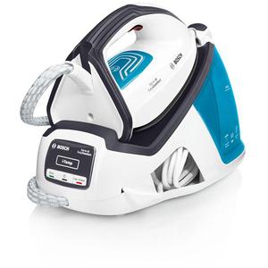 Statie de calcat BOSCH EasyComfort TDS4050, 1.3l, 290g/min, 2400W, talpa Palladium-Glissee, alb - albastru