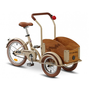 Bicicleta pentru copii PEGAS Mini Cargo 1S, Crem Aluna