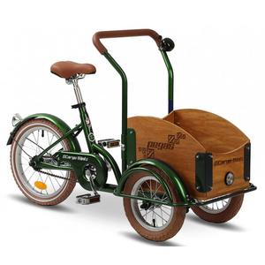 Bicicleta pentru copii PEGAS Mini Cargo 1S, Verde Smarald