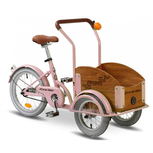 Bicicleta pentru copii PEGAS Mini Cargo 1S, Roz Bujor