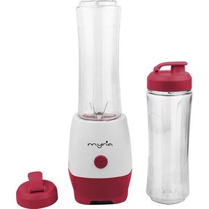 Mini blender MYRIA MY4099, 0.6 l, 1 viteza, 300 W, alb - rosu