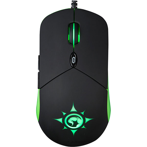 Mouse Gaming MARVO G911, 6000 dpi, negru-verde