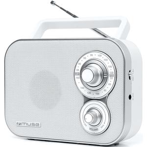 Radio portabil MUSE M-051 R, FM/MW, alb