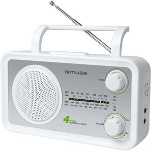 Radio portabil MUSE M-05 SW, FM/MW/LW/SW, alb