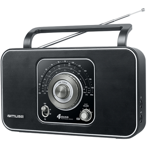 Radio portabil MUSE M-068 R, FM/MW/LW/SW, negru
