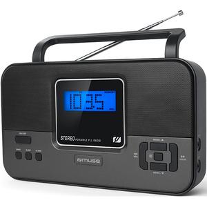 Radio portabil MUSE M-087 R, FM/MW, Ecran LCD, negru