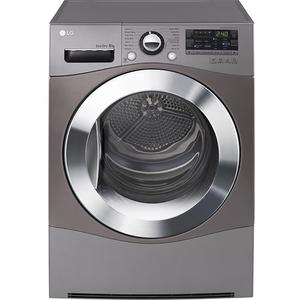 Uscator de rufe LG RC8055EH2M, Heat Pump, 8kg, A++, argintiu