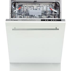 Masina de spalat vase incorporabila SHARP QW-D41I472X-EU, 13 seturi, 9 programe, 60cm, Clasa A++, argintiu