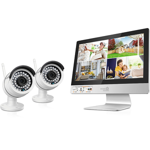 Kit supraveghere video HOMEGUARD All-in-One HGNVK49002, 2 camere HD 960p, monitor, 4 canale, alb