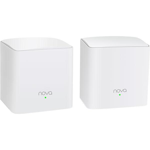 Sistem Wireless Mesh Gigabit TENDA Nova MW5s AC1200, Dual-Band 300 + 867 Mbps, 2 Buc, alb
