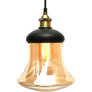 Lampa de tavan tip pendul MYRIA MY2232, 40W, E27, negru-auriu
