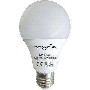 Bec LED MYRIA MY2242, 7W, E27, lumina calda