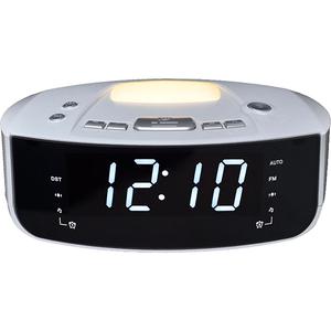 Ceas cu alarma si radio MYRIA MY2606, 4W, alb