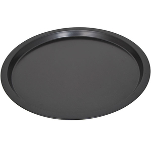 Tava de pizza MYRIA MY4039, 34.5cm, otel, negru
