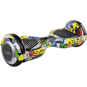 Scooter electric MYRIA MY7006YL Smart Ride 6F, 6.5 inch, graffiti galben + geanta transport inclusa
