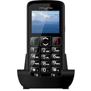 Telefon mobil MYRIA Senior MY9071BK, 256MB RAM, 3G, Dual SIM, Black