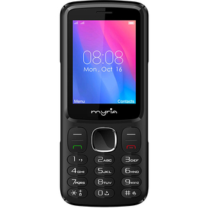 Telefon MYRIA Endless MY9074BK, 128MB RAM, 3G, Dual SIM, Black-Red