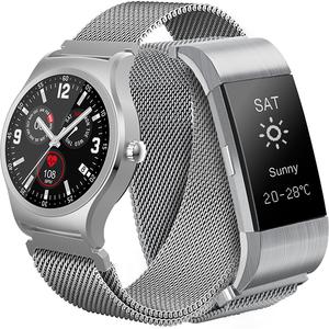 Pachet Smartwatch + Bratara MYRIA MY9512 Android/iOS, Argintiu