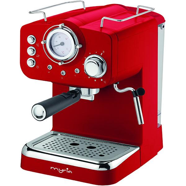Espressor manual MYRIA MY4052, 1100W, 15 bar, rosu