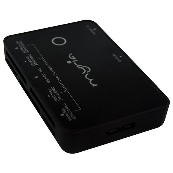 Cititor de carduri MYRIA MY8026, USB 3.0, M2/TF/XD/SD/CF/MS, negru