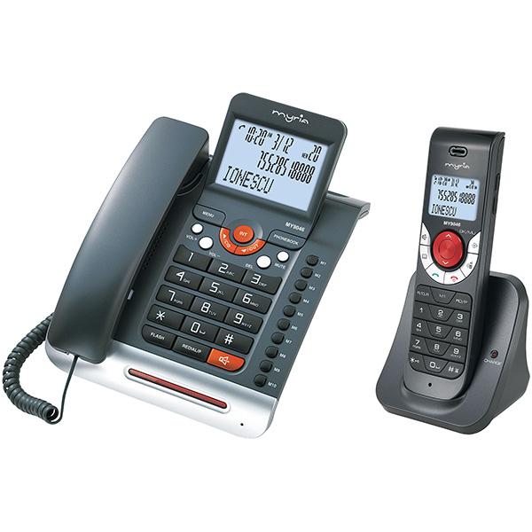 Telefon fix MYRIA MY9046, DECT, Negru