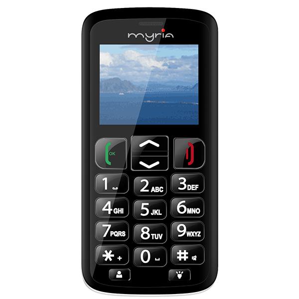 Telefon MYRIA Senior MY9071BK, 256MB RAM, 3G, Dual SIM, Black