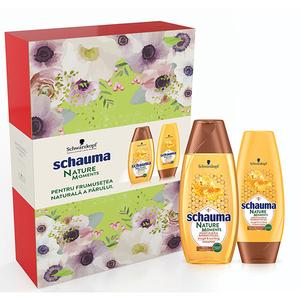 Pachet promo SCHAUMA Nature Moments Honey Elixir: Sampon, 250ml + Balsam de par, 250ml