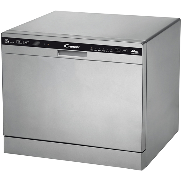 Masina de spalat vase CANDY CDCP8/E-S, 8 seturi, 6 programe, 60 cm, A+, argintiu