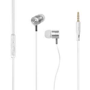 Casti PROMATE Meta, Cu Fir, In-ear, Microfon, alb