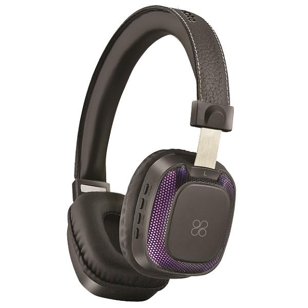 Casti PROMATE Melody-BT, Bluetooth, On-Ear, Microfon, negru