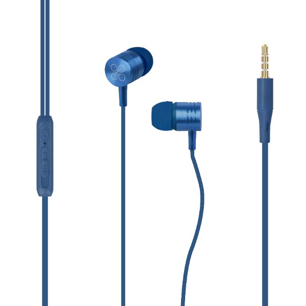 Casti PROMATE Meta, Cu Fir, In-ear, Microfon, albastru