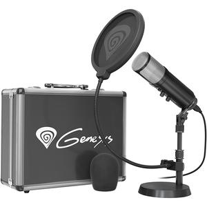 Microfon de studio NATEC Genesis Radium 600, cardioid, usb, negru