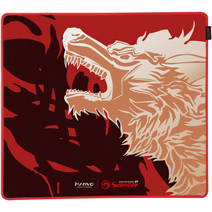 Mouse pad gaming MARVO G30, design FireWolf, marime L