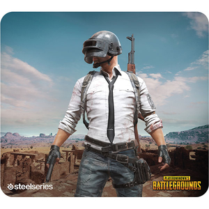 Mouse Pad Gaming STEELSERIES QcK+ PUBG Miramar Edition, multicolor