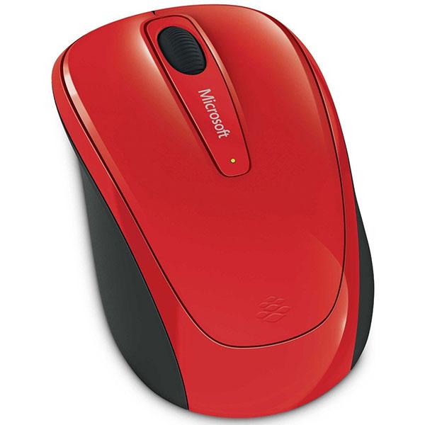 Mouse Wireless MICROSOFT Mobile 3500, 1000 dpi, rosu