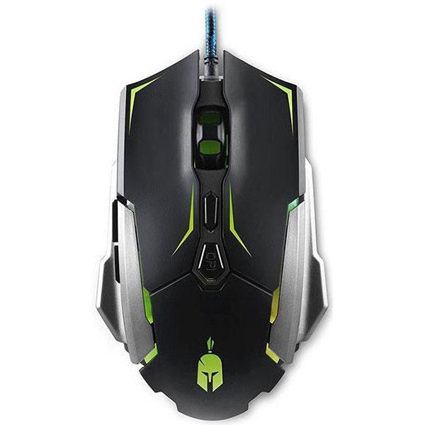 Mouse Gaming SPARTAN GEAR Titan, 4000 dpi, negru-verde