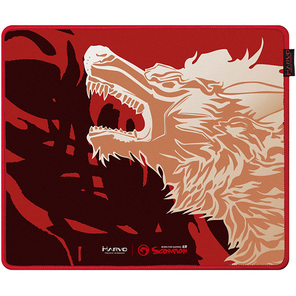 Mouse Pad Gaming MARVO G31, design FireWolf, marime M