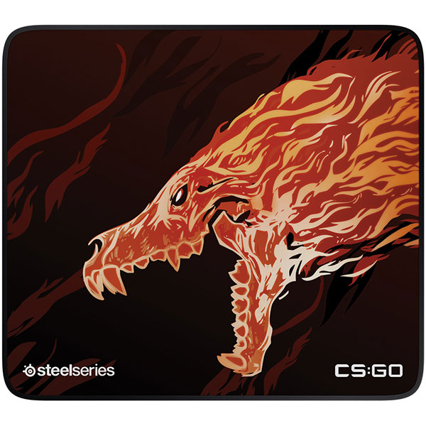 Mouse Pad Gaming STEELSERIES QcK+ Limited CS:GO Howl Edition, negru-rosu