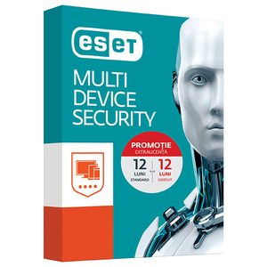 Antivirus ESET NOD32 Multi-Device 3, 1 an + 1 an gratuit, 3 utilizatori, Box