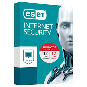 Antivirus ESET NOD32 Internet Security, 1 an + 1 an gratuit, 1 utilizator, Box
