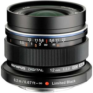 Obiectiv OLYMPUS M.ZUIKO DIGITAL ED 12mm 1:2.0 MLC EW-M1220, negru